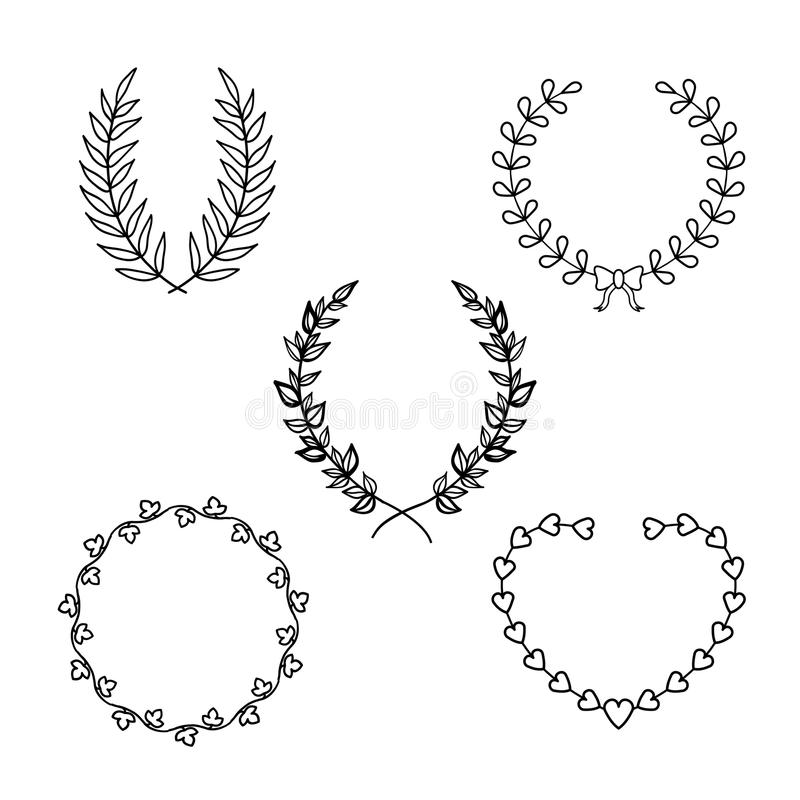 Calligraphic wreath royalty free illustration