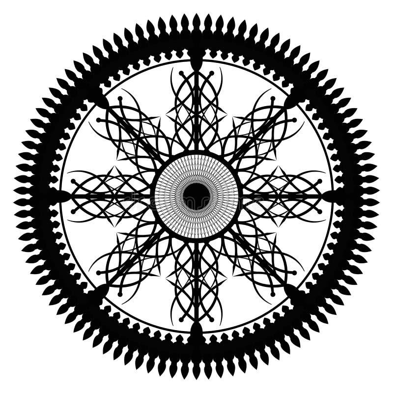 Calligraphical koło royalty ilustracja