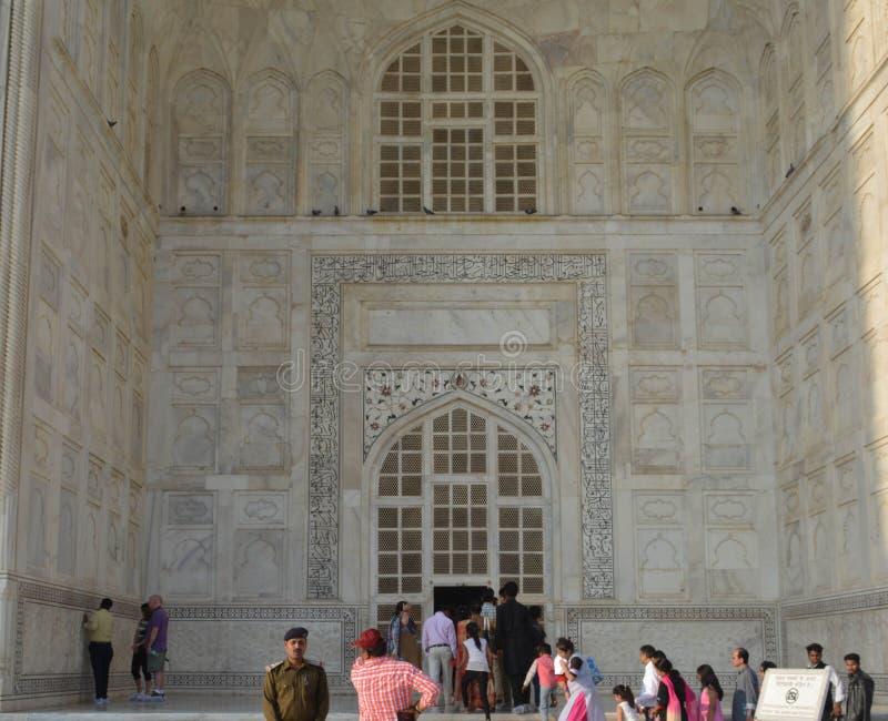 Calligraphie arabe de Taj Mahalimage libre de droits