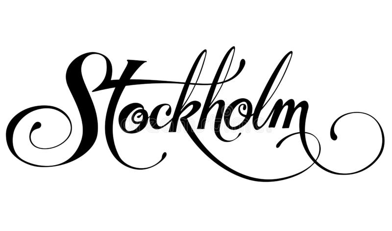 "Calligraphie de ""Stockholm "" illustration stock"