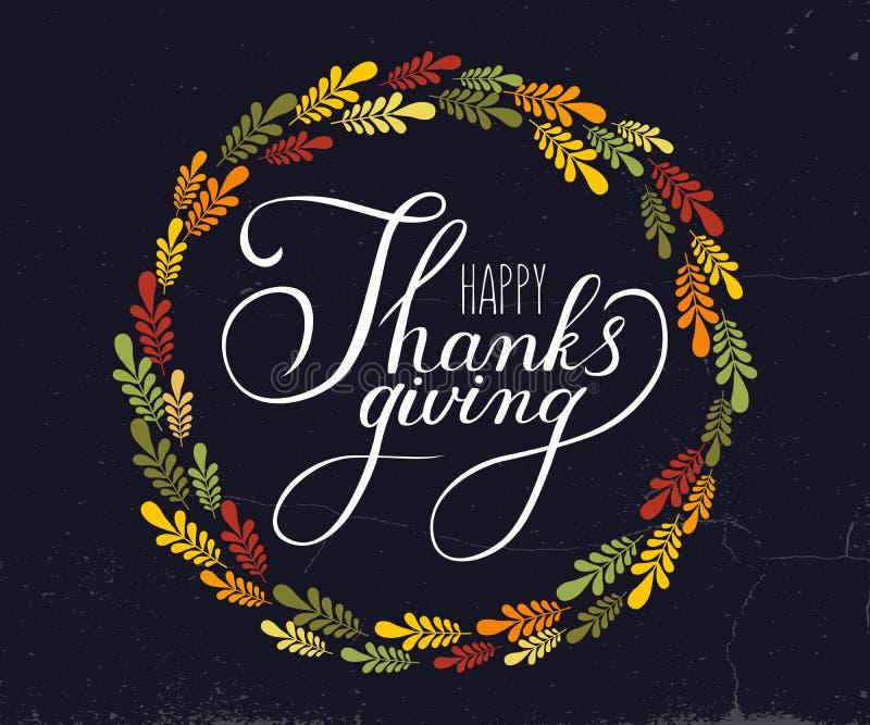 Calligraphie de vecteur de thanksgiving illustration libre de droits