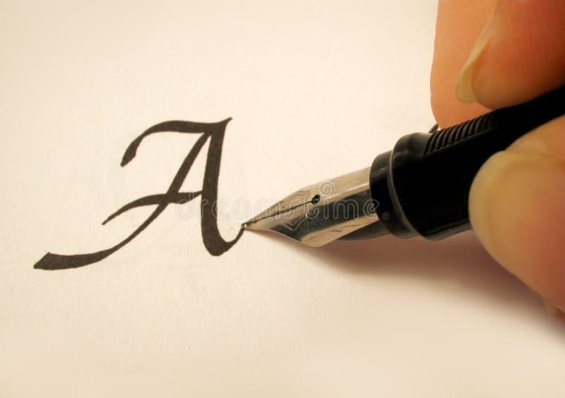 Calligraphy 2 stock photos