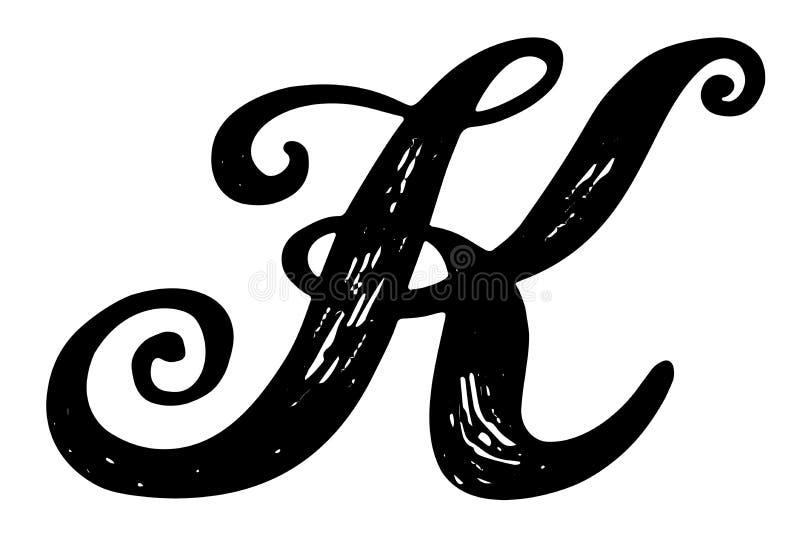 Calligraphy alphabet typeset lettering. stock vector illustration