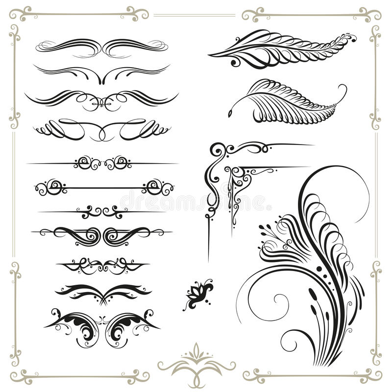 Download Calligraphy Border Stock Vector Illustration Of Curve