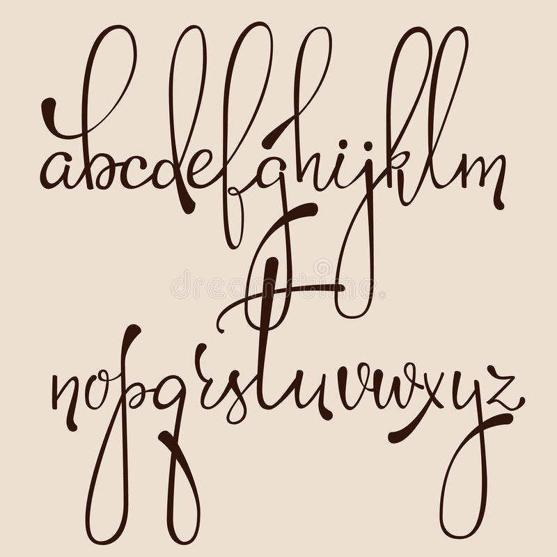 Calligraphy cursive font stock illustration