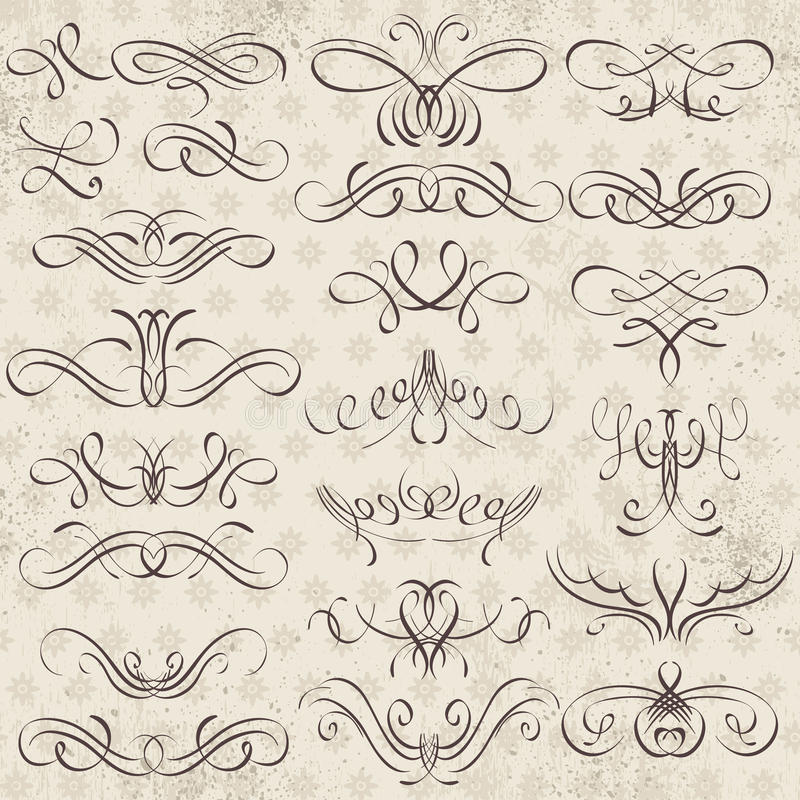 Calligraphy Decorative Borders, Ornamental Rules, Dividers