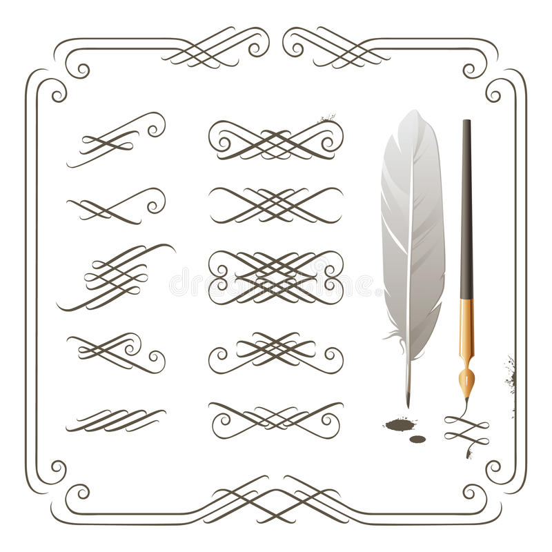 Download Calligraphy elements stock vector. Image of antique, graphic - 22552309