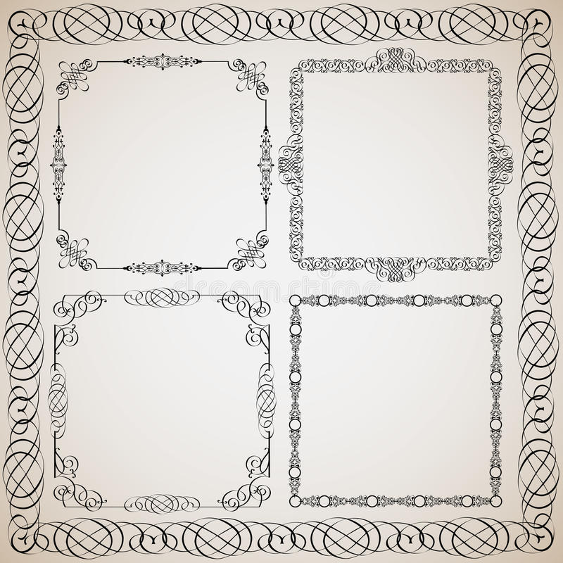 Download Calligraphy frames stock vector. Image of classic, classical - 22261001