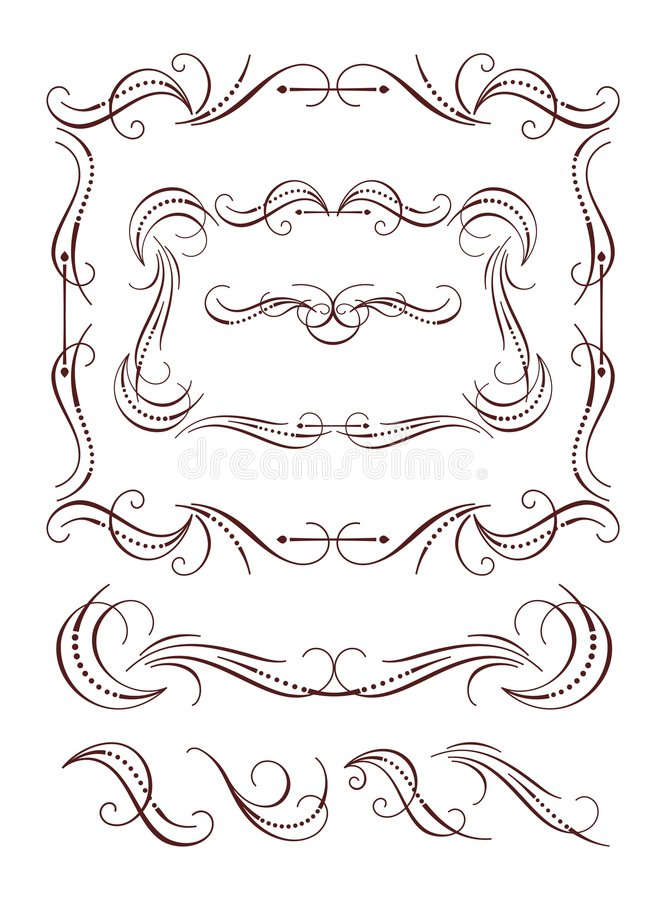 Calligraphy frames elements royalty free stock image