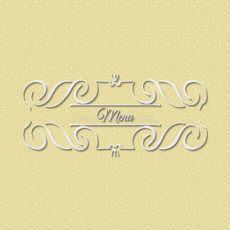 Calligraphy monogram floral design, vintage pattern logo. EPS 10 stock images