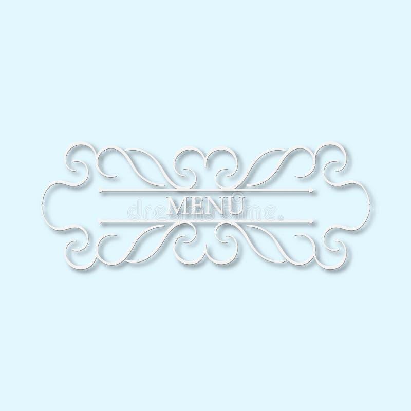 Calligraphy monogram floral design, vintage pattern logo. EPS 10 royalty free stock photos