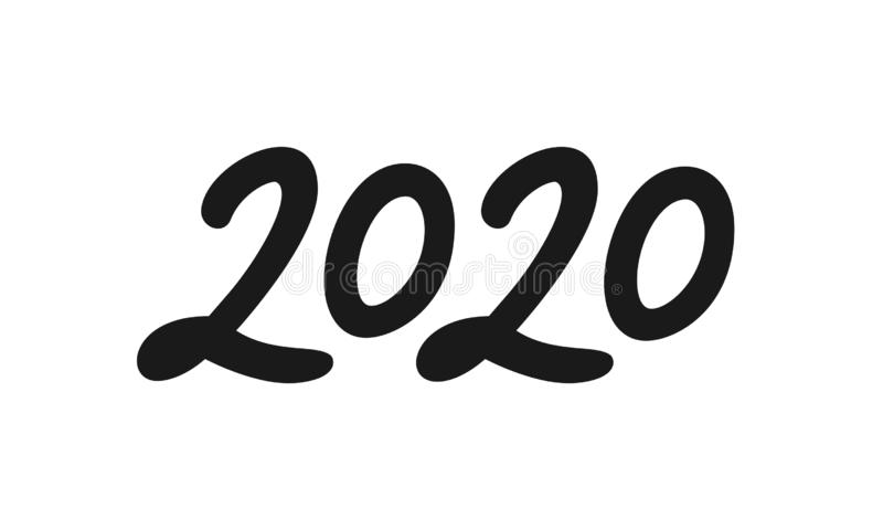 Calligraphy for 2020 New Year of the Rat vector illustration