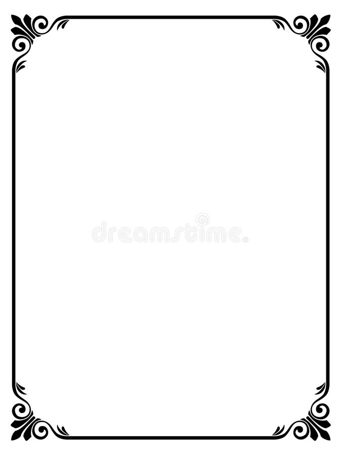 Free Calligraphy Ornamental Decorative Frame Royalty Free Stock Photography - 16674657