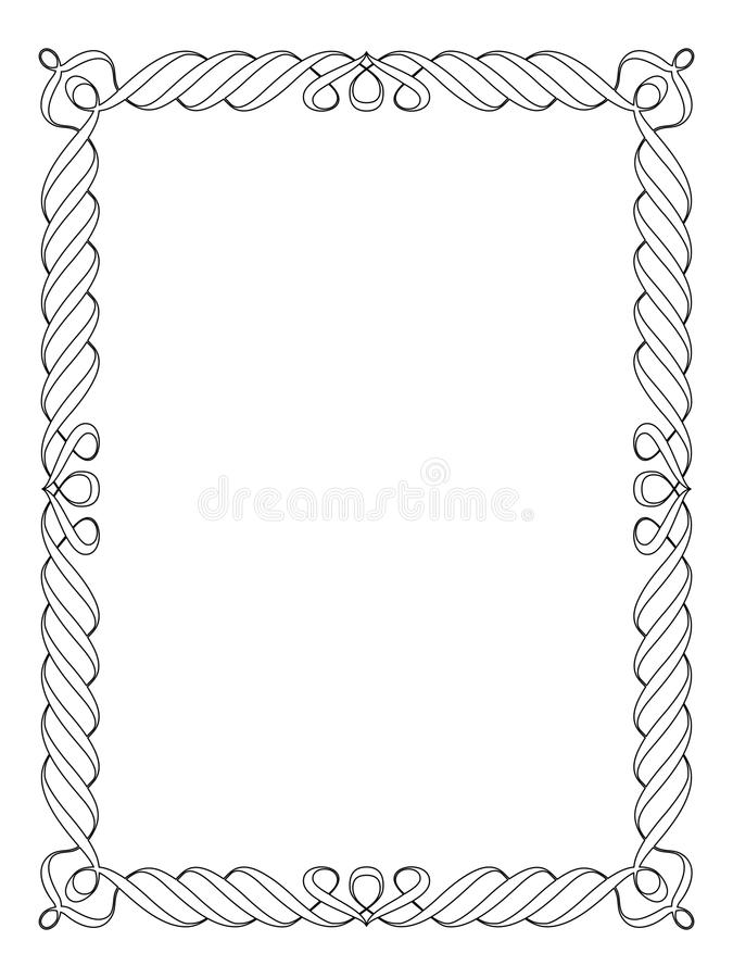Download Calligraphy Ornamental Decorative Frame Stock Vector - Image: 24130093