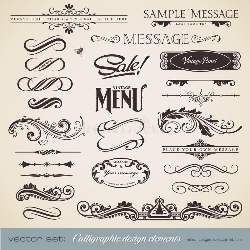 Download Calligraphy set 3 stock vector. Illustration of frame - 17513954