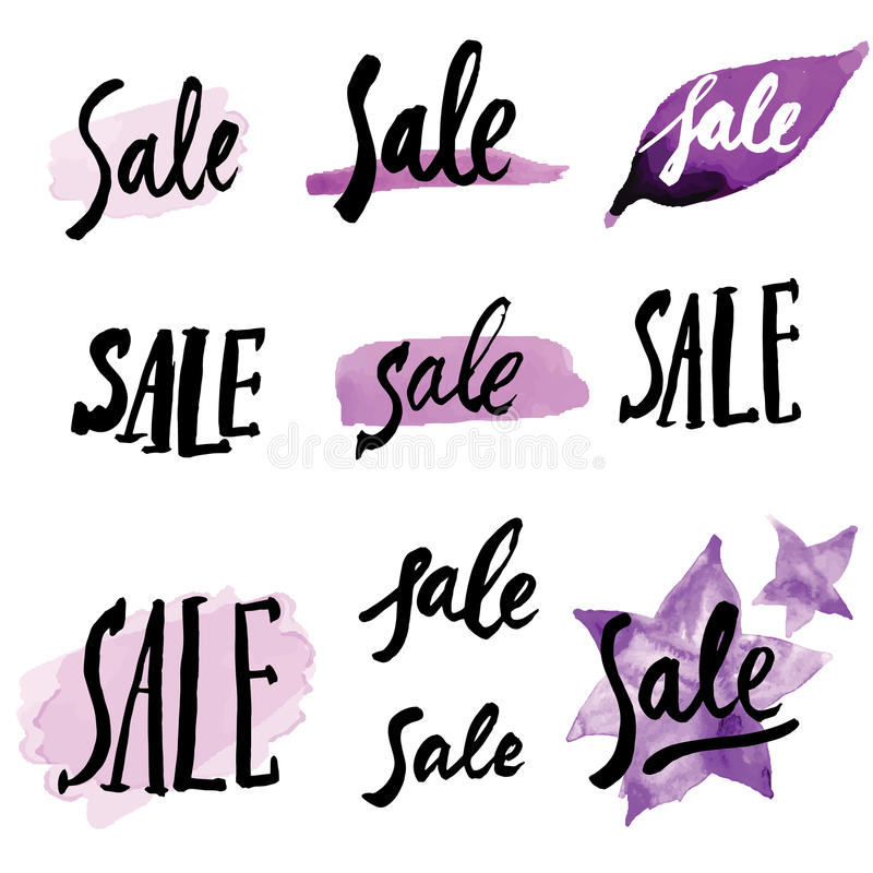 Calligraphy Signs Sale Stock Vector Image Of Roman Brush