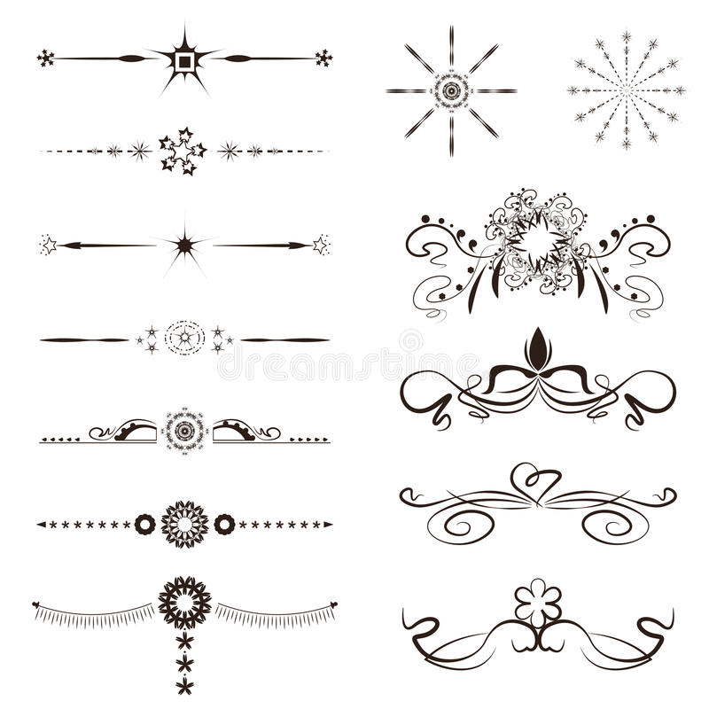 Line Art Graphic Design : Calligraphy swirl line graphic designs vector set stock