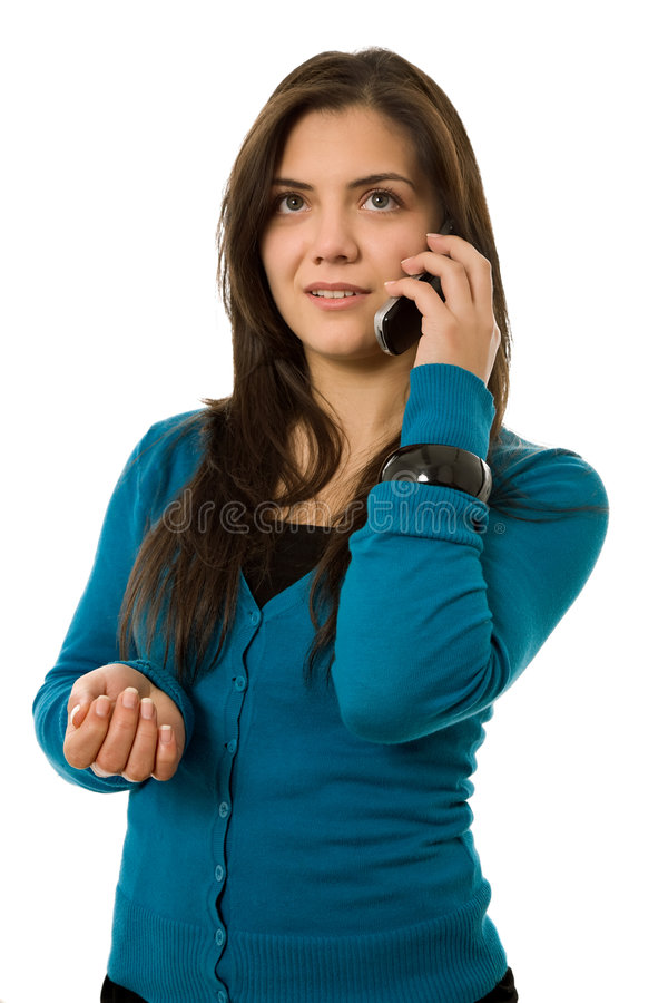 Download Calling stock image. Image of young, communication, beautiful - 7507421
