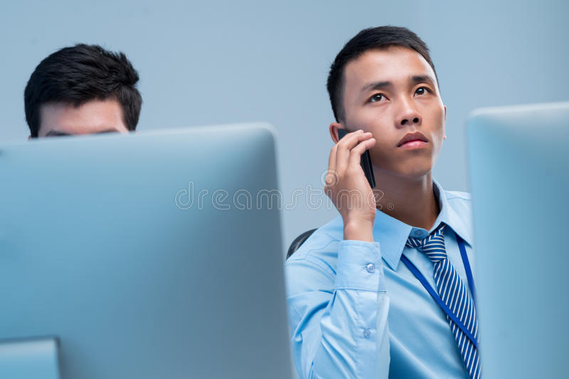Download Calling businessman stock image. Image of cellphone, occupation - 32964063