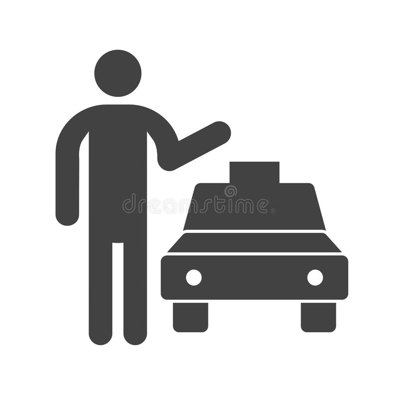 Calling Cab. Taxi, cab, city icon vector image. Can also be used for city lifestyle. Suitable for web apps, mobile apps and print media stock illustration