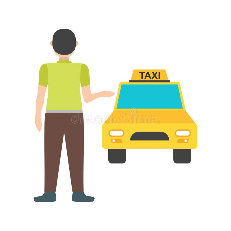 Calling Cab. Taxi, cab, city icon vector image. Can also be used for city lifestyle. Suitable for web apps, mobile apps and print media vector illustration