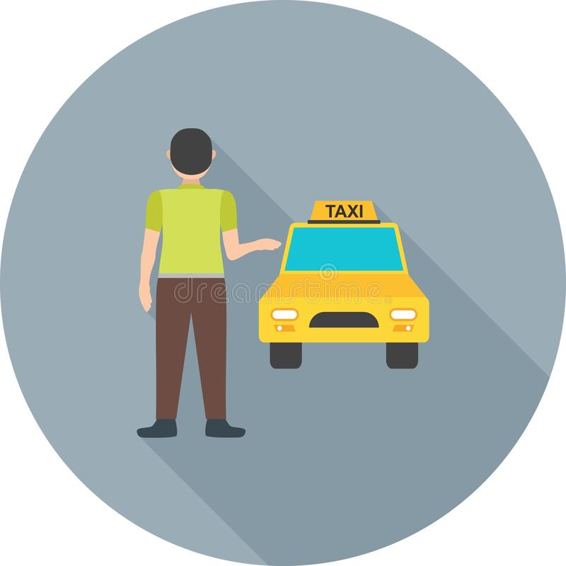 Calling Cab royalty free illustration
