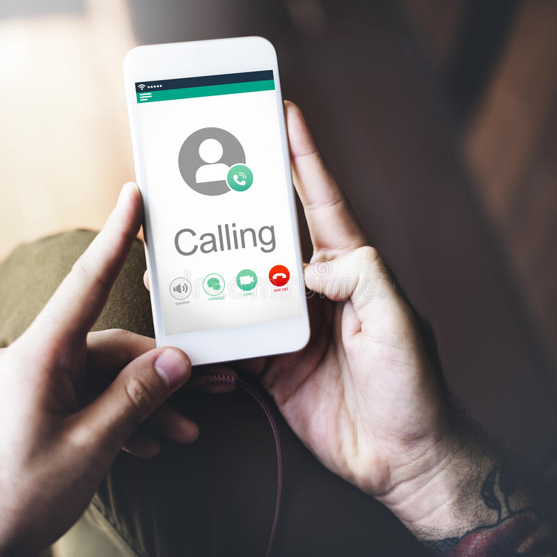 Calling Communication Connect Networking Concept royalty free stock photo