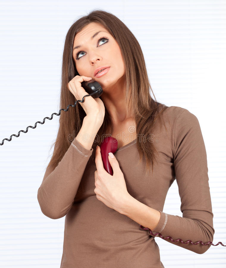 Download Calling Lady Secretary Royalty Free Stock Photo - Image: 17297455