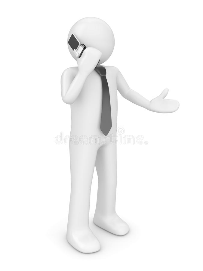 Calling man with tie royalty free stock image