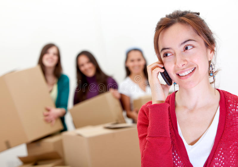 Download Calling the moving van stock image. Image of help, calling - 16816339
