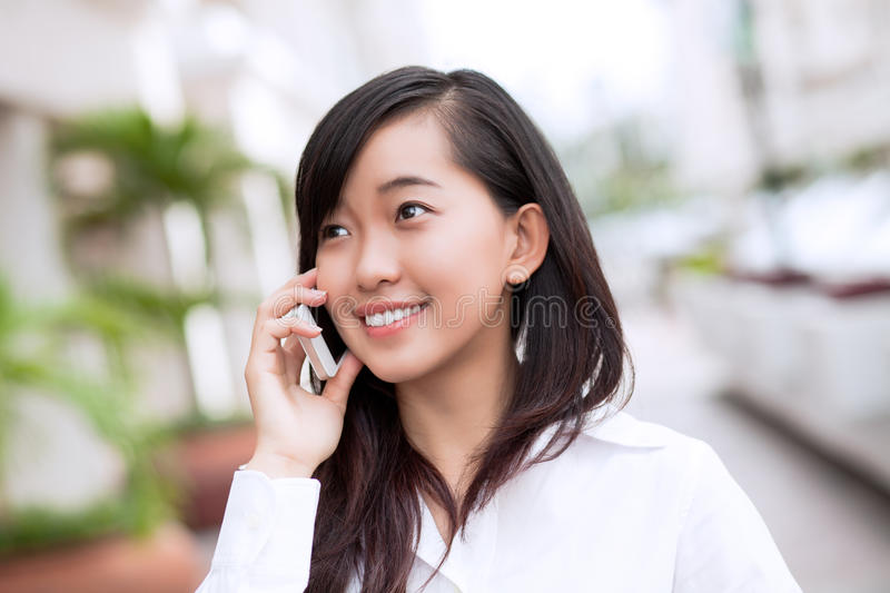 Calling By Phone Royalty Free Stock Image