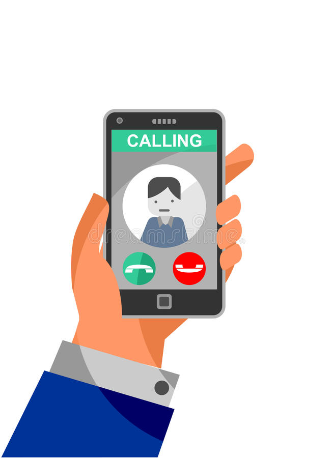 Calling on the phone vector illustration