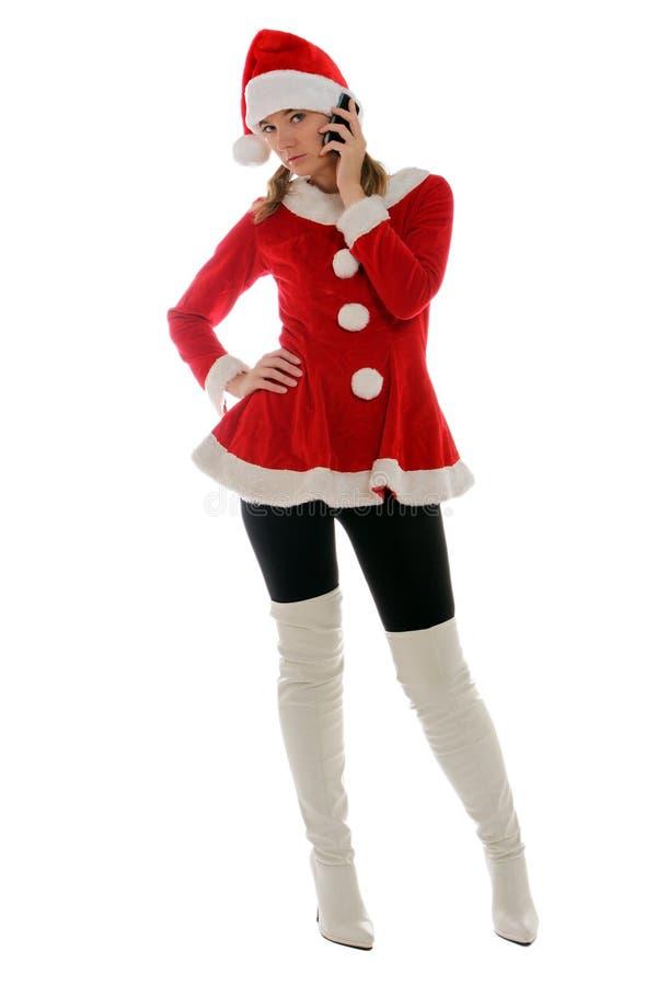 Calling Santa stock image