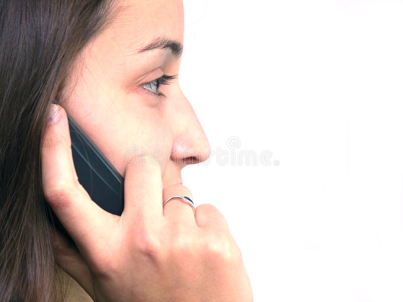 Calling someone 4 royalty free stock image