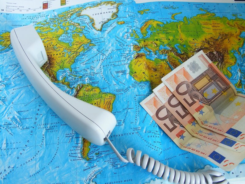 Calling travel agency stock photo