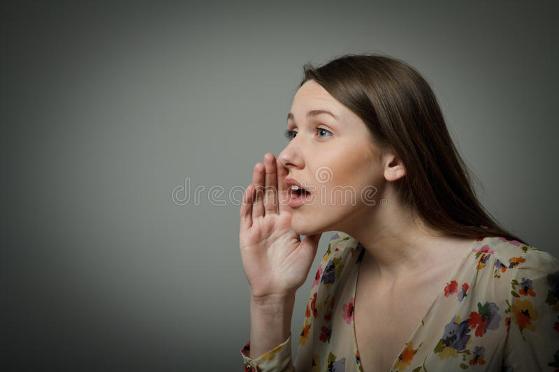 Download Calling stock photo. Image of beautiful, profile, face - 32938364