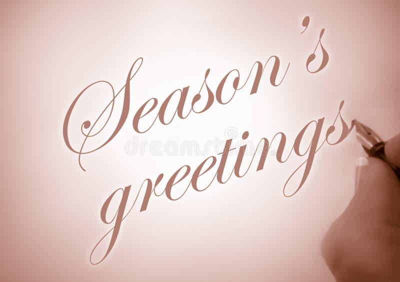 Callligraphy season's greetings royalty free illustration