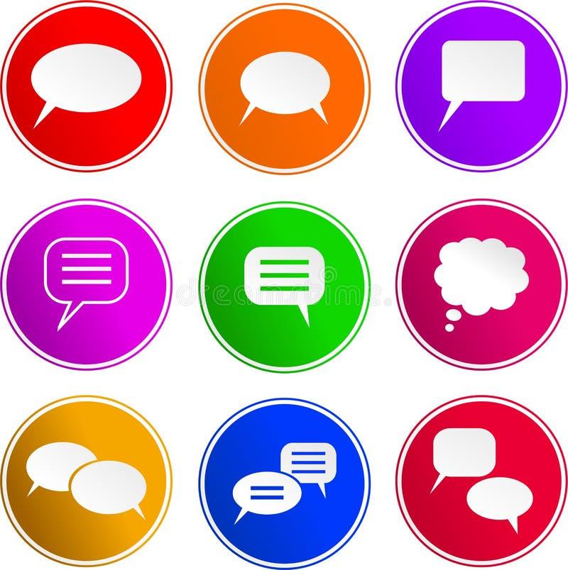 callout ikon znak royalty ilustracja