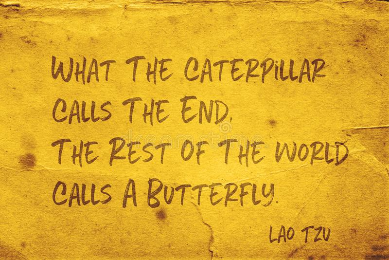 Calls a butterfly Lao Tzu royalty free stock photo