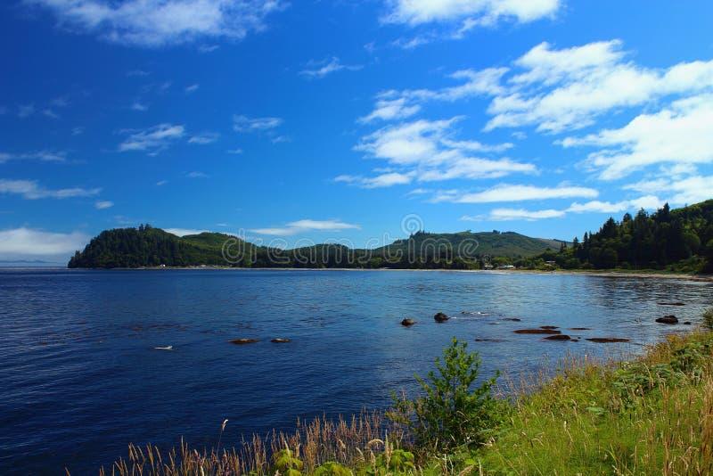 Callum Bay sulla costa del nord della penisola olimpica, Washington fotografie stock libere da diritti