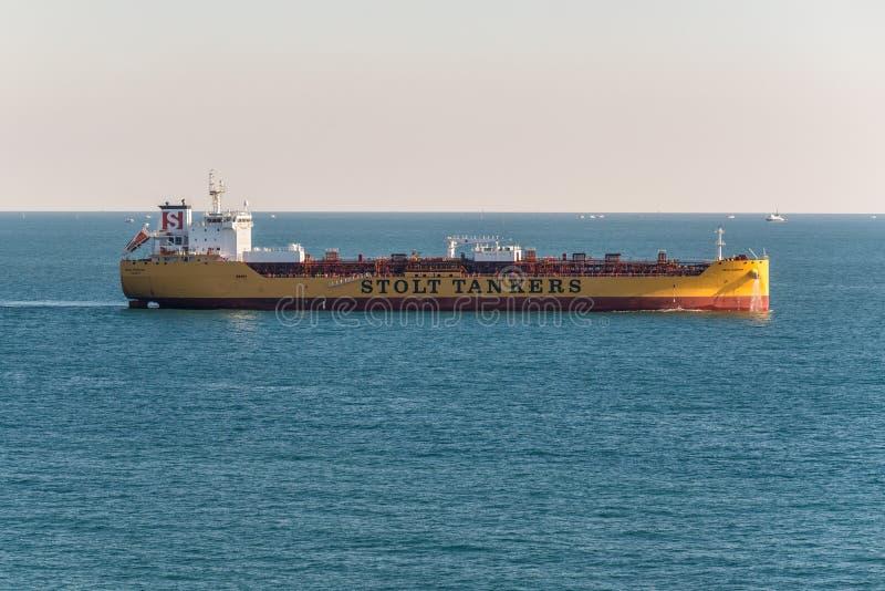 Calluna di Stolt dell'autocisterna/chimici dei prodotti petroliferi in Port Said, Egitto immagini stock libere da diritti