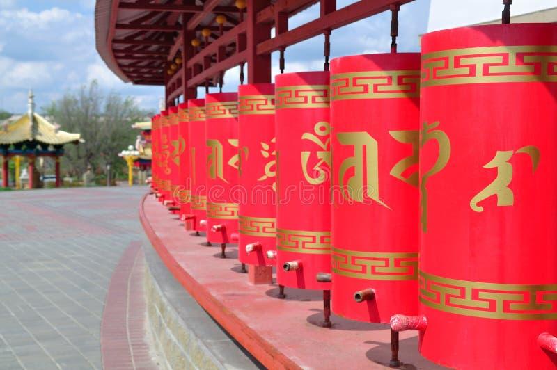 Calmúquia Elista Templo do domicílio dourado da Buda Shakyamun imagens de stock