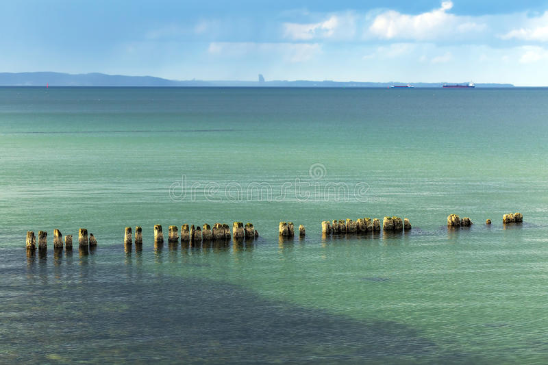Calm Baltic Sea Scenery At Winter Time Royalty Free Stock Photo
