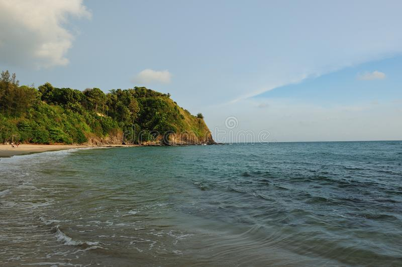 Calm beach on Lanta Island stock photos