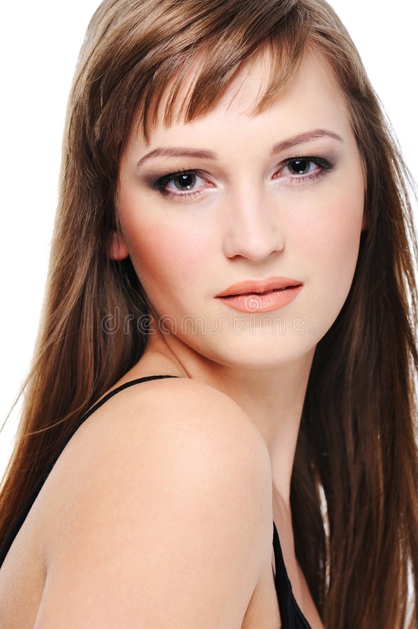 Calm Beautiful Young Woman Royalty Free Stock Photos