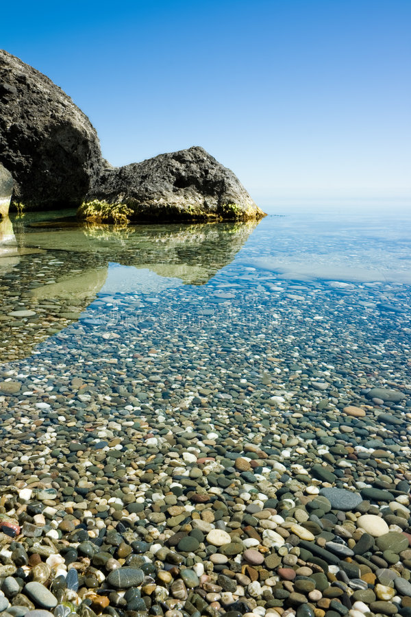 Calm on the Black Sea royalty free stock photo