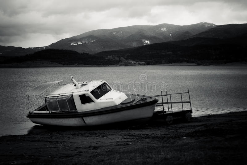 Bulgarian black and white landscape stock images