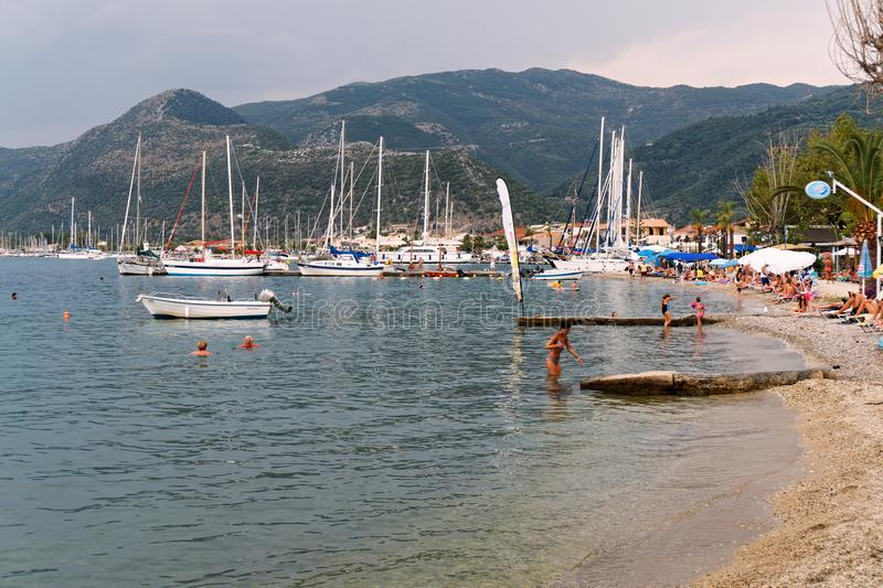 Nidri Beach, Lefkada Greek Island, Greece royalty free stock photos