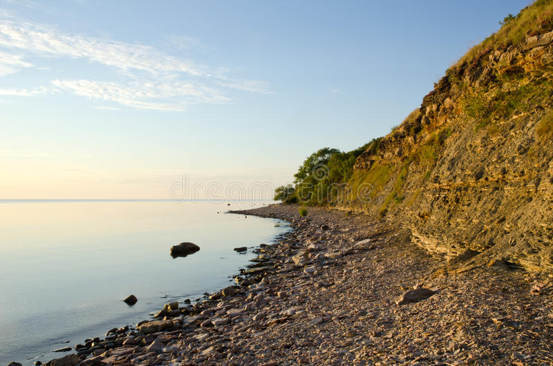 Download Calm And Bright Coastline With Cliff Steep Stock Photo - Image: 25701152