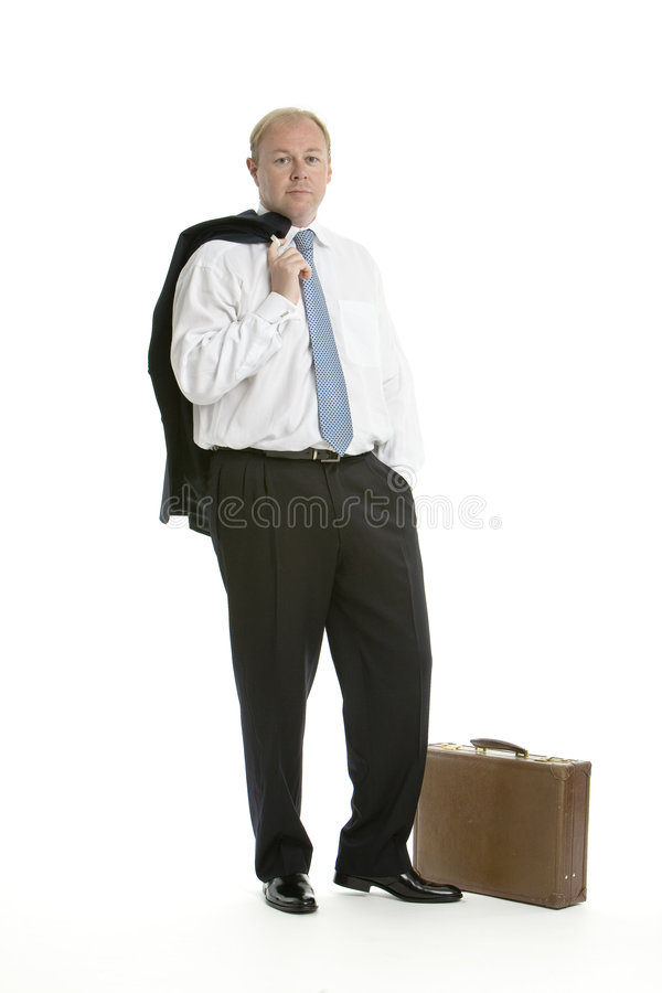 Calm business man stock photo